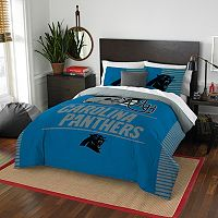 Carolina Panthers Draft Full/Queen Comforter Set by Northwest