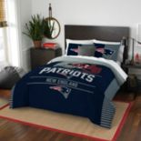 New England Patriots Draft Full/Queen Comforter Set by Northwest