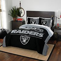 Oakland Raiders Draft Full/Queen Comforter Set by Northwest