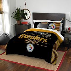 Pittsburgh Steelers Draft Full/Queen Comforter Set by Northwest