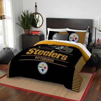 Pittsburgh Steelers Draft Full/Queen Comforter Set by Northwest