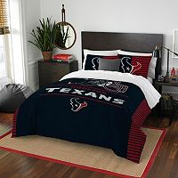Houston Texans Draft Full/Queen Comforter Set by Northwest