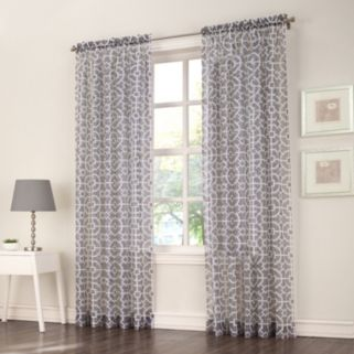 No918 Ashlea Trellis Window Curtain