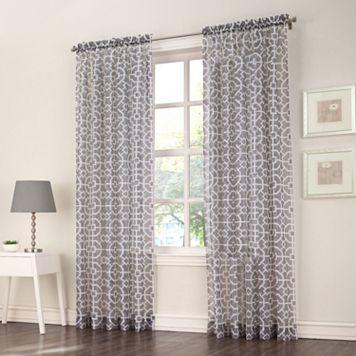 No918 Ashlea Trellis Window Curtain