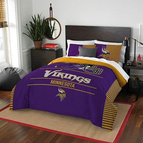 Minnesota Vikings Draft Full/Queen Comforter Set by Northwest