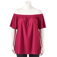 Plus Size Apt. 9® Off-The-Shoulder Peasant Top