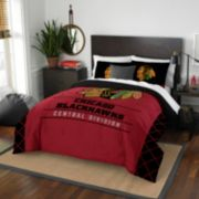 Chicago Blackhawks Draft Full/Queen Comforter Set by Northwest