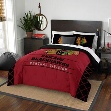 Chicago Blackhawks Draft Full/Queen Comforter Set by Northwest