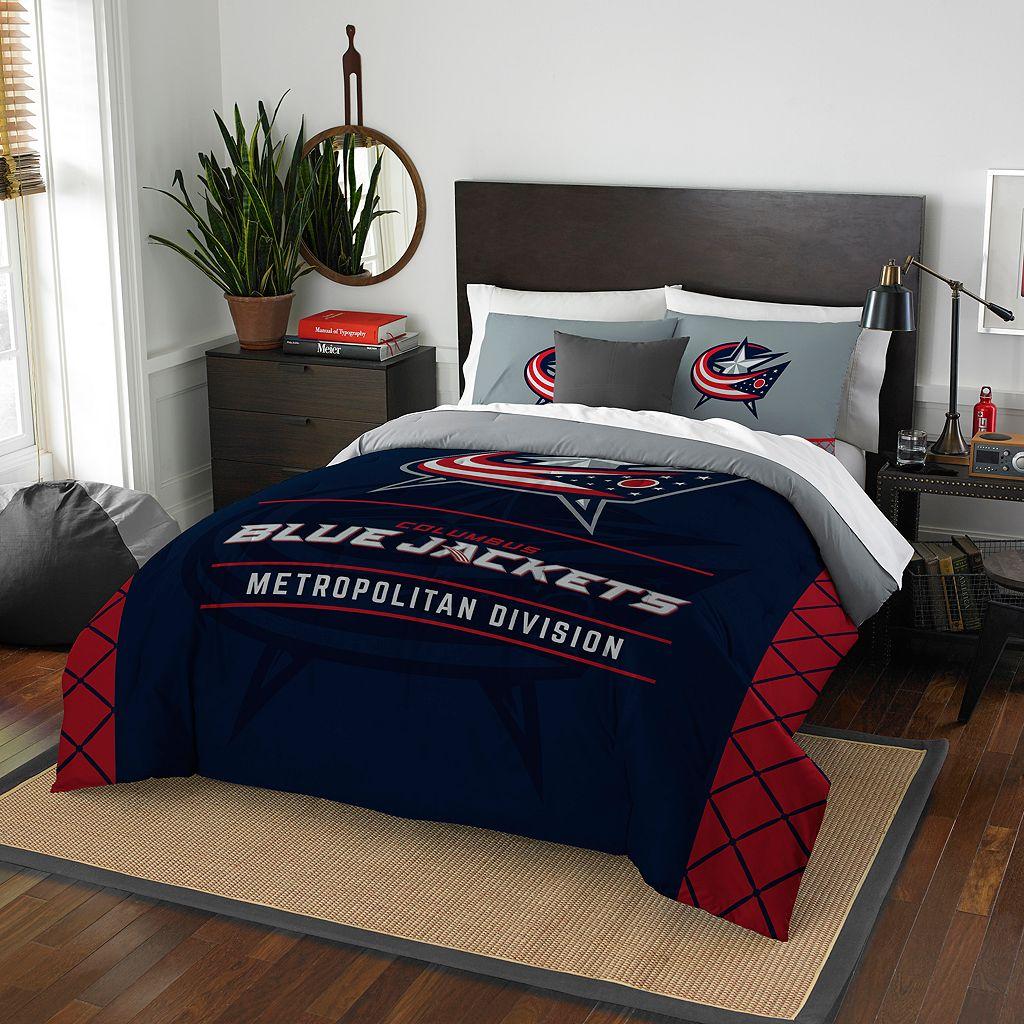 Columbus Blue Jackets Draft Full/Queen Comforter Set by Northwest