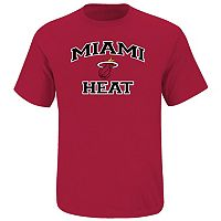 Big & Tall Majestic Miami Heat Heart and Soul II Tee