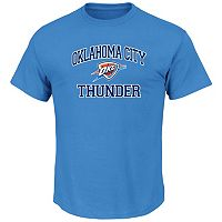 Big & Tall Majestic Oklahoma City Thunder Heart and Soul II Tee