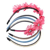 Girls 4-16 4-pk. Headband Set
