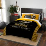 Boston Bruins Draft Full/Queen Comforter Set by Northwest