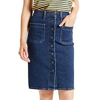 Women's Levi's Button-Front Jean Skirt