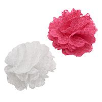 Girls 4-16 2 pkCrochet Flower Hair Clips