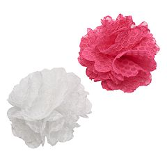 Girls 4-16 2-pk. Crochet Flower Hair Clips