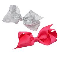 Girls 4-16 2 pkGrosgrain Bow Hair Clips