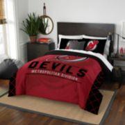 New Jersey Devils Draft Full/Queen Comforter Set by Northwest