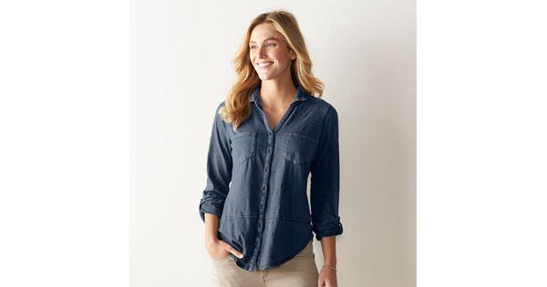 Women S Sonoma Goods For Life Long Utility Shirt