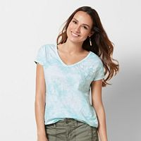 Petite SONOMA Goods for Life™ Embroidered Tie-Dye Tee