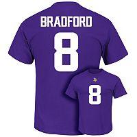 Men's Majestic Minnesota Vikings Sam Bradford Eligible Receiver Tee