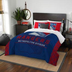 New York Rangers Draft Full/Queen Comforter Set by Northwest