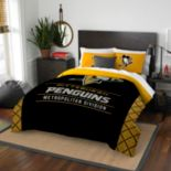 Pittsburgh Penguins Draft Full/Queen Comforter Set by Northwest