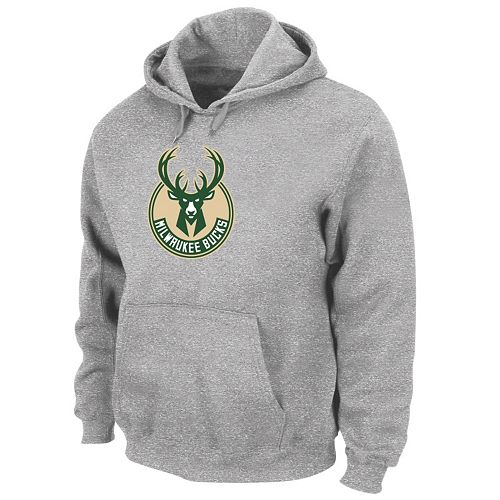 Big & Tall Majestic Milwaukee Bucks Pullover Hoodie