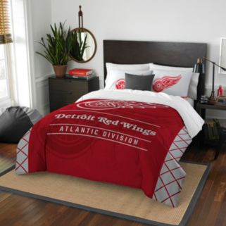 Detroit Red Wings Draft Full/Queen Comforter Set by Northwest