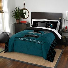 San Jose Sharks Draft Full/Queen Comforter Set by Northwest