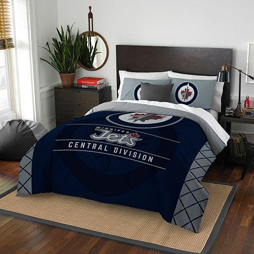 Winnipeg Jets Draft Full/Queen Comforter Set by Northwest