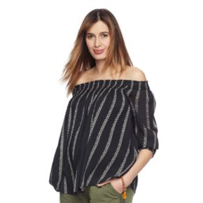 Maternity a:glow Off-the-Shoulder Smocked Top