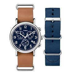 5952c0d105 Timex Men's Weekender Chronograph Watch & Interchangeable Band Set -  TWG012800QM