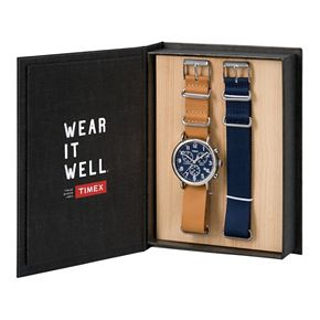 Timex Men's Weekender Chronograph Watch & Interchangeable Band Set - TWG012800QM