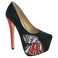 Women's Herstar Alabama Crimson Tide Rhinestone Pump High Heels