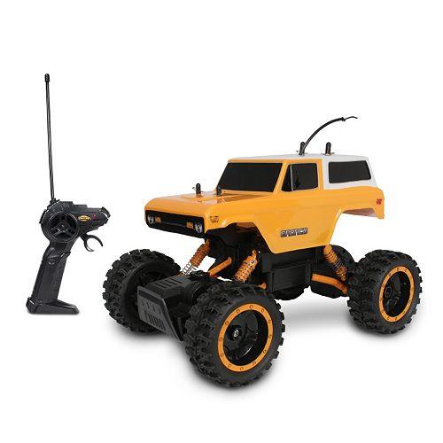 NKOK Mean Machines Rock Crawlers Remote Control '70 Ford Bronco Truck