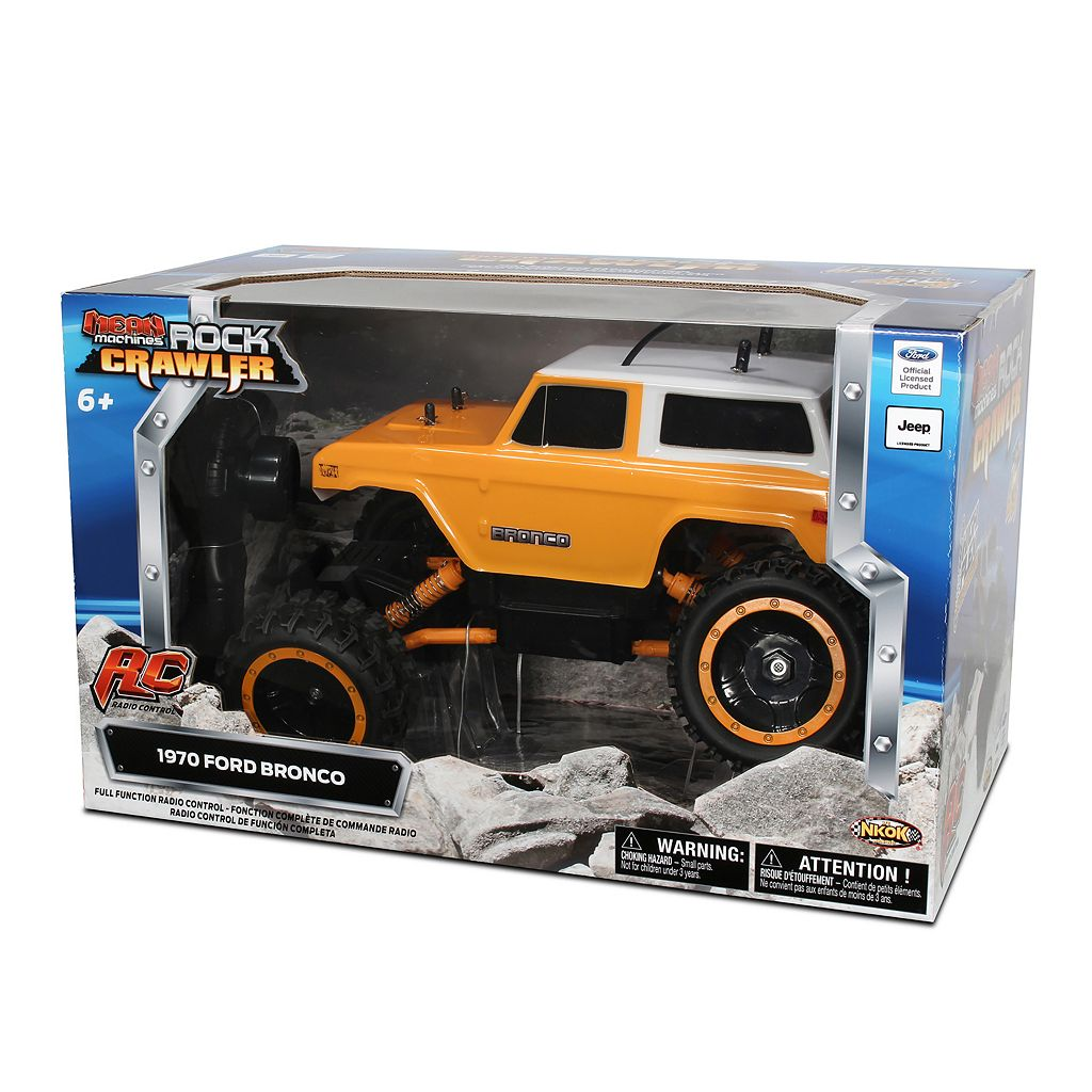 NKOK Mean Machines Rock Crawlers Remote Control '70 Ford Bronco Truck