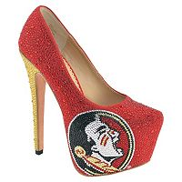Women's Herstar Florida State Seminoles Rhinestone Pump High Heels
