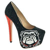 Women's Herstar Georgia Bulldogs Rhinestone Pump High Heels