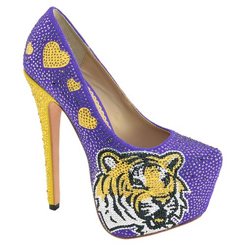 Women's Herstar LSU Tigers Rhinestone Pump High Heels