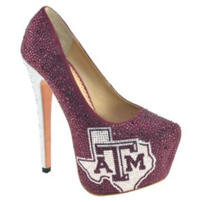 Women's Herstar Texas A&M Aggies Rhinestone Pump High Heels