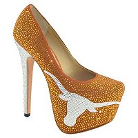 Women's Herstar Texas Longhorns Rhinestone Pump High Heels