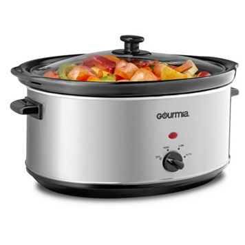 Gourmia 7-qt. Stainless Steel Deluxe Slow Cooker