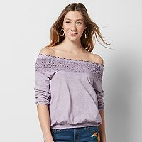 Women's SONOMA Goods for Life™ Crochet Off-the-Shoulder Tee