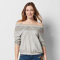 Women's SONOMA Goods for Life™ Crochet Off-the-Shoulder Tee