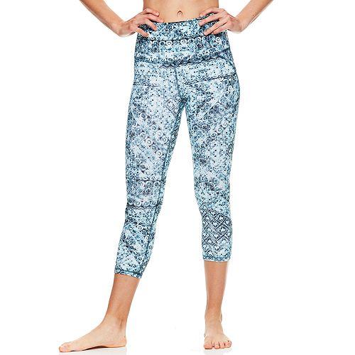 Women's Gaiam Om High-Rise Capri Yoga Leggings