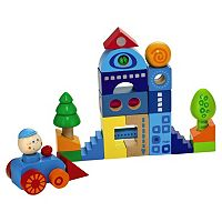 HABA Habatown 25-pc. Colorful Wooden Blocks Set