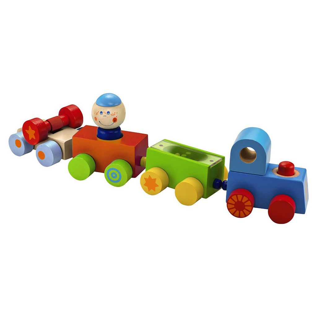 HABA Habatown All Aboard Wooden Magnetic Stacking Train Set