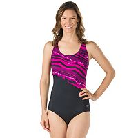 Women's Speedo Mineral Striped One-Piece Swimsuit
