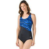 Women's Speedo Mineral Striped One-Piece Swimsuit